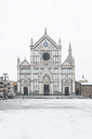 Italy, Florence, view to Basilica of Santa Croce in winter - MGIF00216