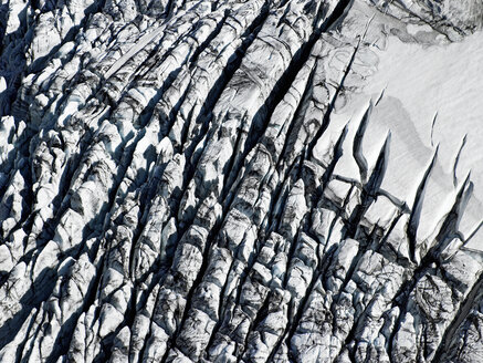 Aerial shot of an icefall on the Myrdalsjokull glacier in south Iceland - AURF02135