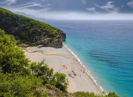 Albania, Ionean sea, Albanian Riviera, beach of Gjipe - SIEF07965