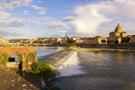Italy, Tuscany, Florence, Arno river and cityscape in summer - JUNF01143