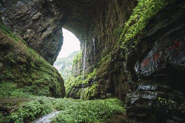 China, Sichuan Province, Wulong Karst, Natural Arch - KKAF01477