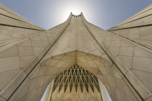 Iran, Tehran, Tehran, Azadi Tower, worm's eye view - FP00212
