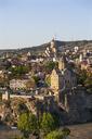 Georgia, Tbilisi, Kura river and Sameba Cathedral in old town - WWF04268