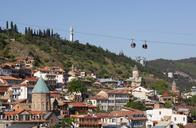 Georgia, Tbilisi, Cable car with Kartlis Deda monument - WWF04271