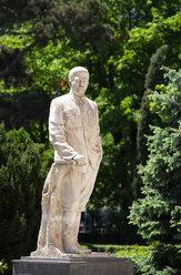 Georgia, Gori, Stalin statue at the Stalin Museum - WWF04328