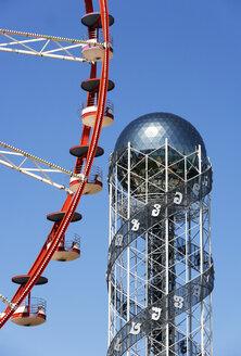 Georgia, Adjara, Batumi, Miracle Park, Alphabetic Tower and ferris wheel - WWF04361
