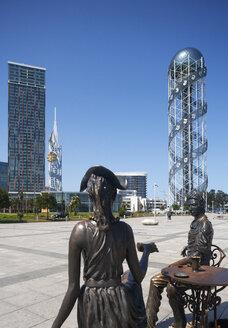Georgia, Adjara, Batumi, Miracle Park with Alphabetic Tower - WWF04364
