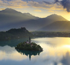 Scenic View Of Lake Bled And Bled Island In Slovenia - AURF02377