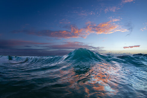 An Ocean Wave In The Early Morning Light On The East Side Of Oahu - AURF02941