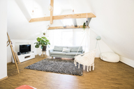 Interior of an attic apartment - JOSF02619