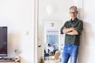 Portrait of mature man at home - TCF05809