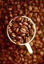 Cup of coffee beans, close-up - JTF01054