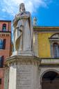 Italy, Verona, statue of Dante Alighieri at Piazza dei Signori - MHF00467
