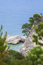Italy, Puglia, Vieste, rocks in Adriatic Sea - FLMF00002