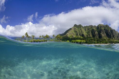 A Split Level Water View Of Kualoa Ridge On Oahu's East Side - AURF03718