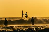 Surfer at sunset - AURF03912