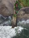 Indonesia, Bali, Aerial view of Bali island, rocky beach - KNTF01248