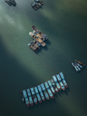 Indonesia, Bali, Aerial view of old boats - KNTF01254