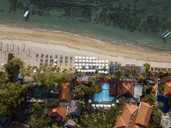 Indonesia, Bali, Aerial view of Sanur beach - KNTF01278