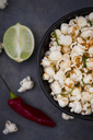 Bowl with popcorn flavoured with chili and lime - LVF07436