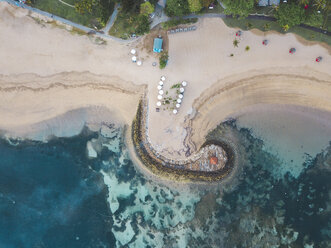 Indonesia, Bali, Aerial view of Nusa Dua beach - KNTF01295