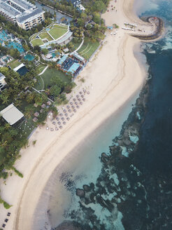 Indonesia, Bali, Aerial view of Nusa Dua beach - KNTF01298