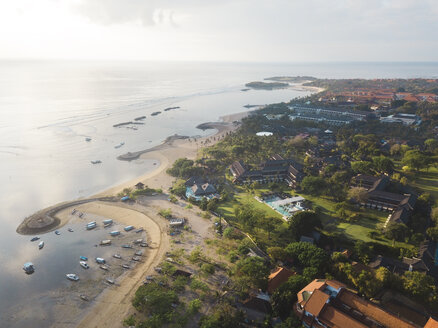 Indonesia, Bali, Aerial view of Nusa Dua beach - KNTF01301