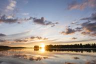 Finland, Kjaani, Kajaani river at sunset - KKAF01722