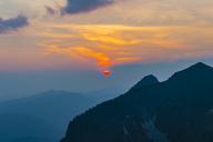 Germany, Bavaria, Allgaeu, Allgaeu Alps, View from Zeigersattel at Nebelhorn at sunset - WGF01243
