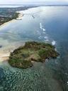 Indonesia, Bali, Aerial view of Nusa Dua beach - KNTF01334