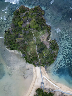 Indonesia, Bali, Aerial view of Nusa Dua beach - KNTF01337