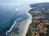 Indonesia, Bali, Aerial view of Nusa Dua beach - KNTF01340