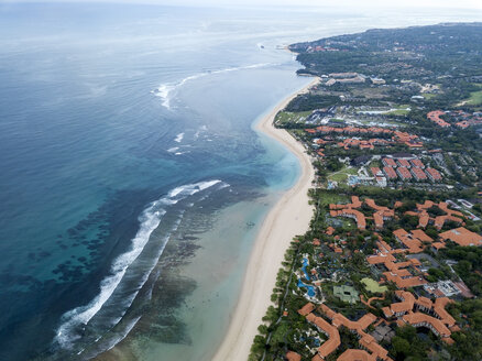 Indonesia, Bali, Aerial view of Nusa Dua beach - KNTF01340