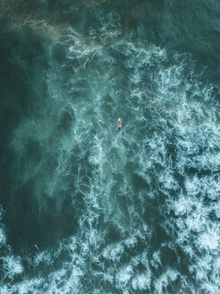 Indonesia, Bali, Aerial view of surfer - KNTF01389
