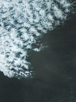 Indonesia, Bali, Aerial view of surfer - KNTF01395