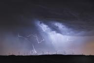 Spain,Burgos Province, Briviesca, thunderstorm - DHCF00189