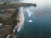 Indonesia, Bali, Aerial view of Balangan beach - KNTF01398