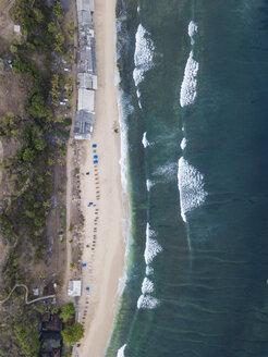 Indonesia, Bali, Aerial view of Balangan beach - KNTF01401