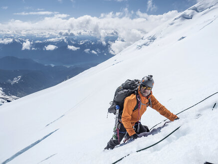 A climber on Mount Baker in Washington State. - AURF04463
