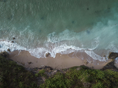 Indonesia, Bali, Aerial view of Pandawa beach - KNTF01436