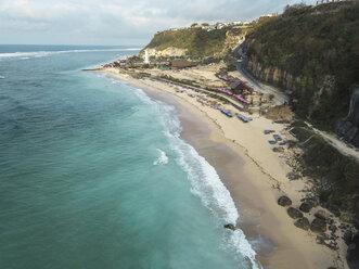 Indonesia, Bali, Aerial view of Pandawa beach - KNTF01439