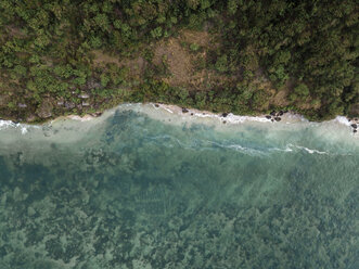Indonesia, Bali, Aerial view of Pandawa beach - KNTF01448