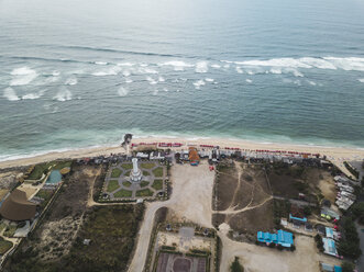 Indonesia, Bali, Aerial view of Pandawa beach - KNTF01451
