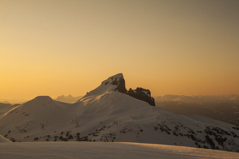 Mountains in snow at scenic sunset - AURF04739