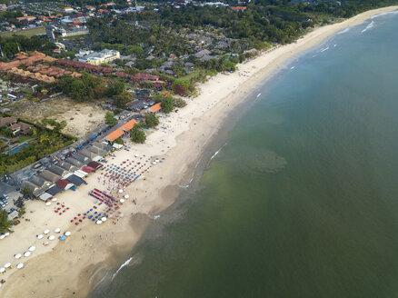 Indonesia, Bali, Aerial view of Jimbaran beach - KNTF01464