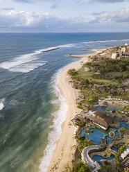 Indonesia, Bali, Nusa Dua, Aerial view of Nikko beach - KNTF01470