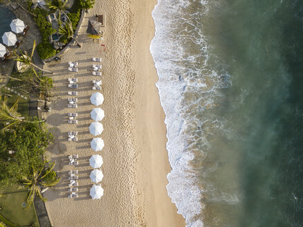 Indonesia, Bali, Nusa Dua, Aerial view of Nikko beach - KNTF01476