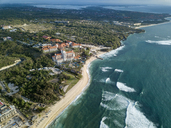 Indonesia, Bali, Nusa Dua, Aerial view of Nikko beach - KNTF01479