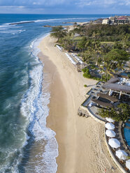 Indonesia, Bali, Nusa Dua, Aerial view of Nikko beach - KNTF01482