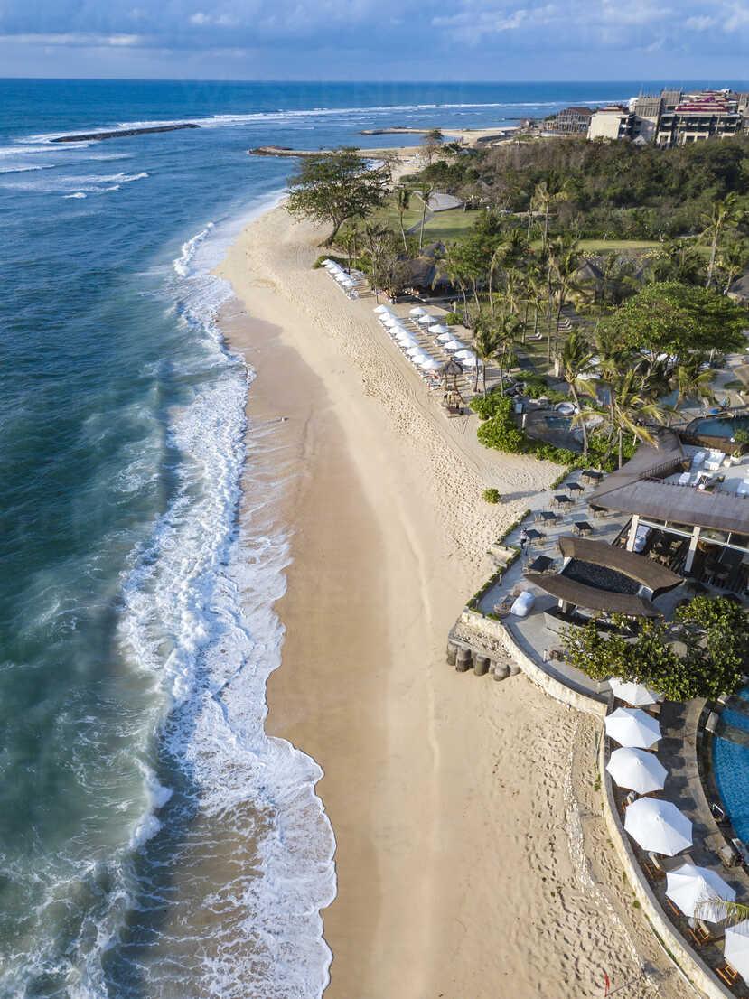 Indonesia, Bali, Nusa Dua, Aerial view of Nikko beach - KNTF01482 - Konstantin Trubavin/Westend61